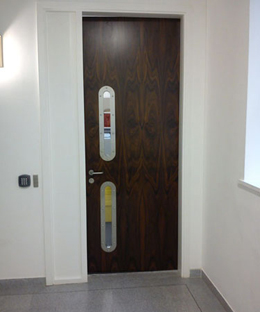 Santos Rosewood Veneered Doors with North4 Visionpanels